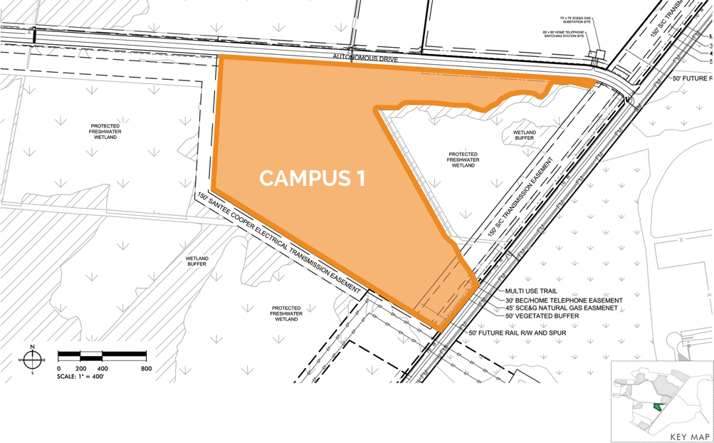 Camp Hall Campus 1 map