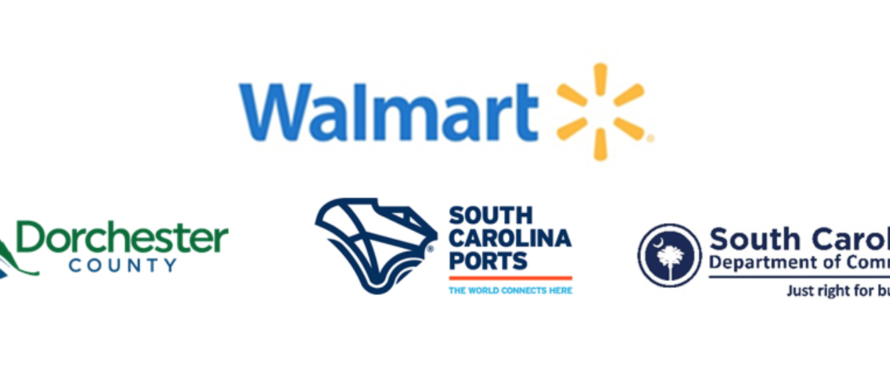 Logo of Walmart, Dorchester County, South Carolina Ports, South Carolina Department of Commerce