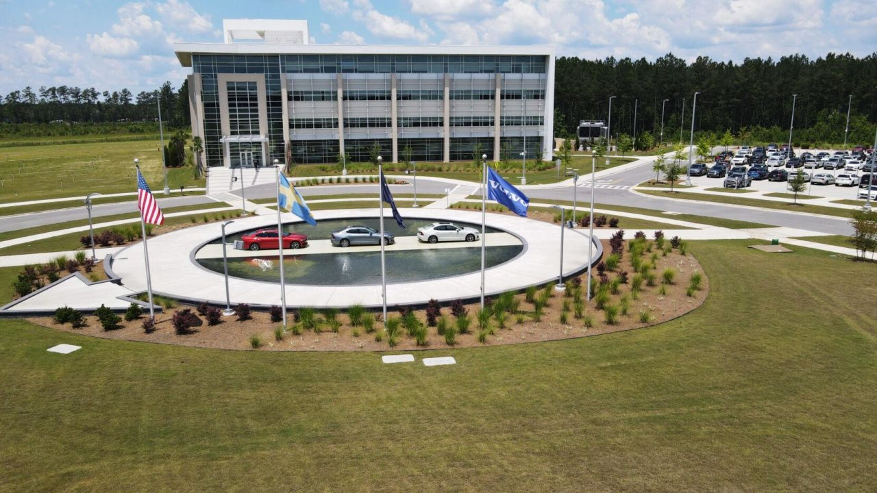 Volvo electric vehicles on display at new SC training university